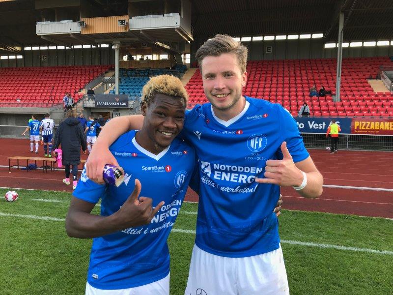 MÅLSCORERE: Abu og Erlend scoret målene for NFK i cupens 1. runde.