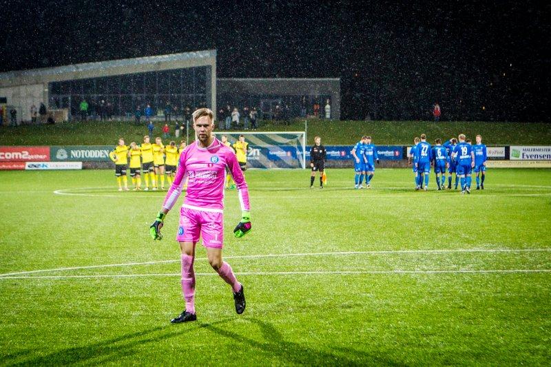KVALIK: NFK vant opprykkskvaliken mot Raufoss på straffer høsten 2017.