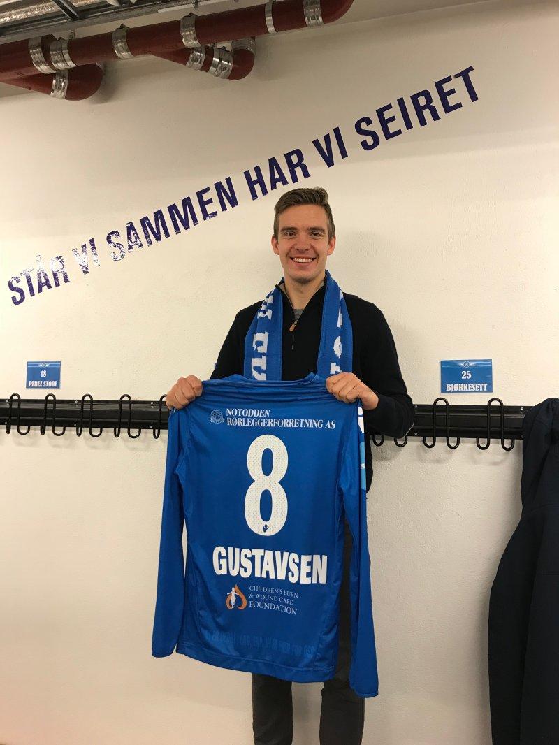 2 ÅR: Gustavsen er klar for to nye år i Notodden Fotballklubb.