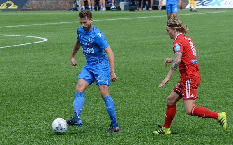Martin Holmen scoret to ganger i 5-1 seieren over Vidar. FOTO: Trond Kaasa, Telen