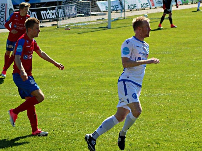 HAT-TRICK: Erik Midtgarden scoret tre ganger i kveldens kamp mot Fram Larvik. FOTO: Rallarberget.