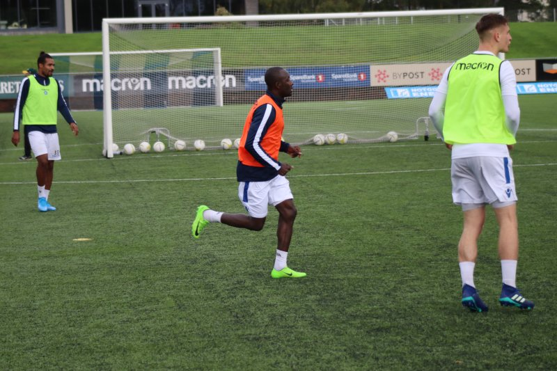 Alfred Sankoh på onsdagens trening i Idrettsparken.