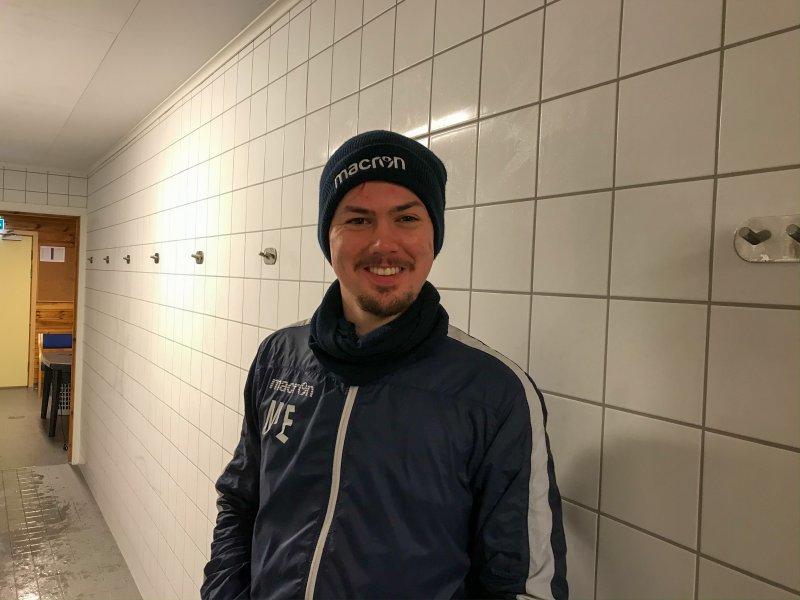 FORNØYD: Hovedtrener Magnus Erga var fornøyd med det spillerne leverte<br />&nbsp;i dagens treningskamp.